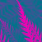 Nature Pattern # 2 - Fern (Blue Pink) by Kitsmumma