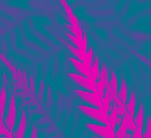 Nature Pattern - Fern (Blue Pink) by Kitsmumma