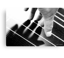 Hand Shadow on a Solar Panel Canvas Print