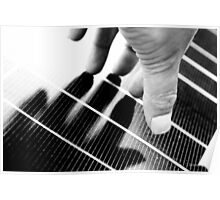 Hand Shadow on a Solar Panel Poster