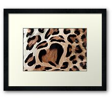 leopard fur heart Framed Print