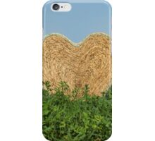 heart hay in the countryside iPhone Case/Skin