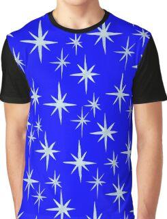 Blue Star Christmas Graphic T-Shirt