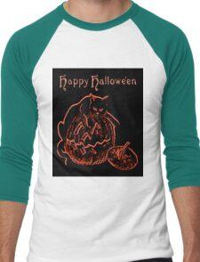 Black Cat Neon Men's Baseball ¾ T-Shirt