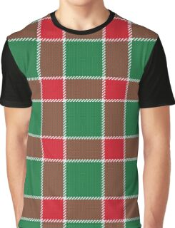 Gorgeous Green Holiday Plaid Graphic T-Shirt