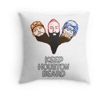 Keep Houston Beard Throw Pillow