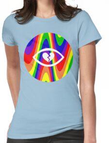 Rainbow Heartbreak Eye Womens Fitted T-Shirt