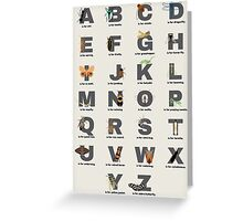 Insect Alphabet Greeting Card