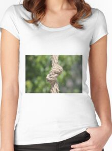 knot on the rope Women's Fitted Scoop T-Shirt