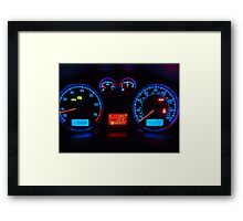 Auto Gauges Framed Print