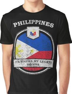 Philippines It's Where My Legend Begins Graphic T-Shirt