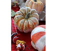 decorated pumpkins Photographic Print
