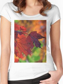 Red, red, my world is red Women's Fitted Scoop T-Shirt