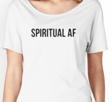 "Yoga Shirt - ""Spiritual AF"" - Yoga Clothes Women & Men - Yoga Tops Women's Relaxed Fit T-Shirt"