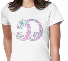 The letter D name monogram initial Womens Fitted T-Shirt