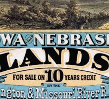 Vintage poster - Iowa and Nebraska Sticker