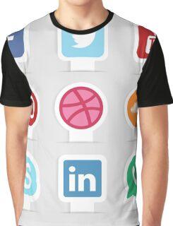 Social Media Apps Graphic T-Shirt