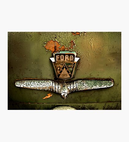 1953 Ford Customline Trunk Detail Photographic Print