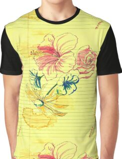 Floral Doodling Graphic T-Shirt