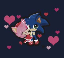 Sonic & Amy Valentines  Kids Clothes