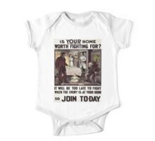 Vintage poster - Is Your Home Worth Fighting For? One Piece - Short Sleeve