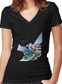 Happy Up Here - Royksopp Women's Fitted V-Neck T-Shirt