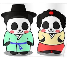 Panda Korean Lover Poster