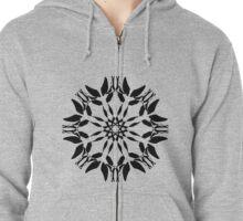 Symmetrical Geometric Design Pattern Zipped Hoodie