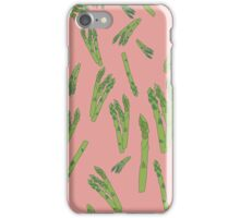 Asparagus on pink iPhone Case/Skin