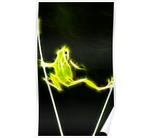 Neon Frog Poster