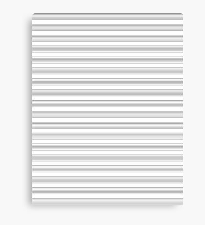 Lines - Musical Score Canvas Print
