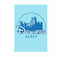 The Wonderful World of Downton Abbey (Downton Abbey + Disney logo mashup) Art Print