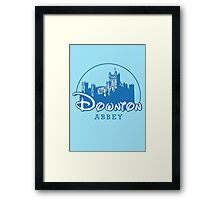 The Wonderful World of Downton Abbey (Downton Abbey + Disney logo mashup) Framed Print