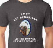 Met li'l sebastian at pawnee harvest festival Unisex T-Shirt