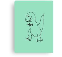 T-rex Playing an Ukulele Canvas Print