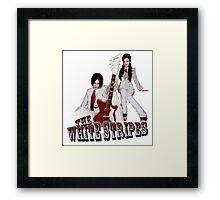 The White Stripes - Red & White Framed Print