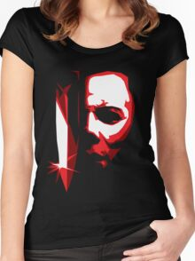 Michael Meyers Vector Art Women's Fitted Scoop T-Shirt