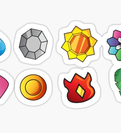 Kanto Badges Sticker