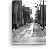 Rural Small Town Alley Canvas Print