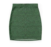 Shapes In The Dark (In Green) Mini Skirt
