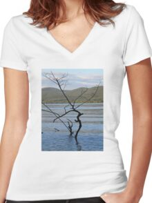 Tree Scene  Women's Fitted V-Neck T-Shirt