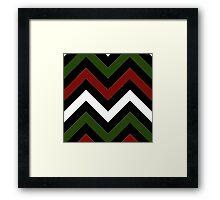 Christmas Chevron Framed Print