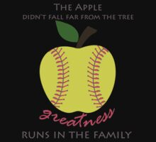 Softball Products: The Apple Didn't Fall Far From the Tree - Greatness Runs in the Family Kids Tee