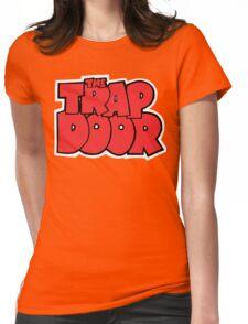 Trap Door Cartoon Womens Fitted T-Shirt