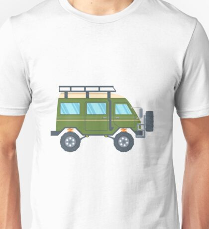 Off-road Vehicle Van with mud tire. Vector illustration Unisex T-Shirt