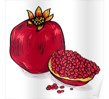 Juicy pomegranate Poster