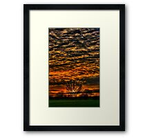 Sunset over Willow Park. Framed Print