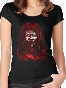 Reagan Exorcist Vector Art Women's Fitted Scoop T-Shirt