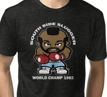 Mr. T SOUTH SIDE SLUGGER Tri-blend T-Shirt