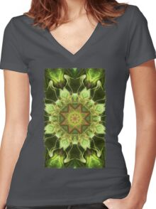 Planet Tree Women's Fitted V-Neck T-Shirt